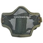 M9227 GREEN AIRSOFT LOWER HALF FACE MESH MASK