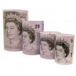 158 MONEY TINS SET OF FOUR