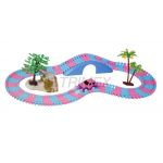 22867A FLEXIBLE BATTERY OPERATED 154PIECES PINK CAR TRACK SET