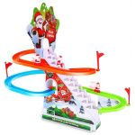 238-10 BATTERY OPERATED MERRY CHRISTMAS SANTA RACE TRACK