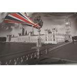 """S-13 20 X 30 CM VINTAGE SIGN """"LONDON FLYING FLAGE"""" METAL FRAME"""